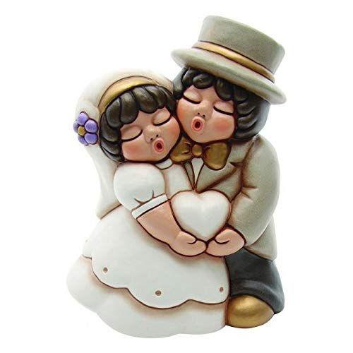 Thun Bomboniere Matrimonio.Thun Coppia Di Sposini Grande Con Cuore Regalo O Bomboniere