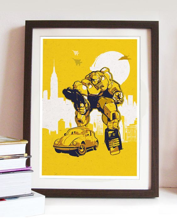 Vintage Transformers Bumblebee Poster Different by 2ToastDesign ...