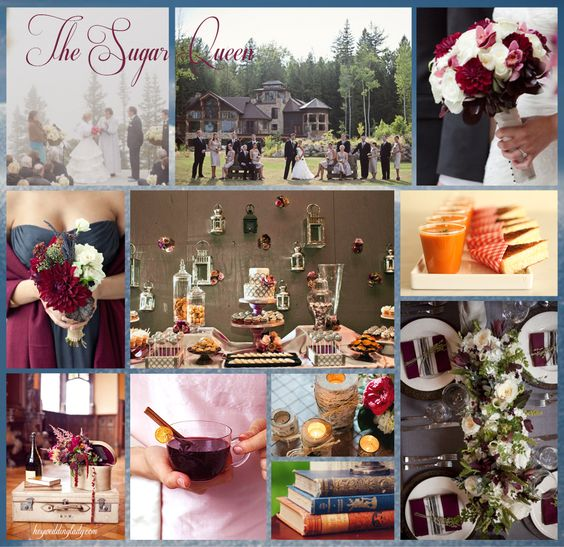 An inspiration board based on Sarah Addison Allen's book The Sugar Queen