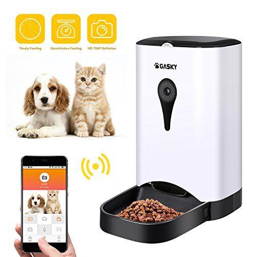 Gasky Automatic Cat Pet Smart Feeder 4 5l Large Capacity App Control Dog Food Dispenser With Wifi Distribution Dogcamera Dogca Pet Feeder Dog Feeder Pets
