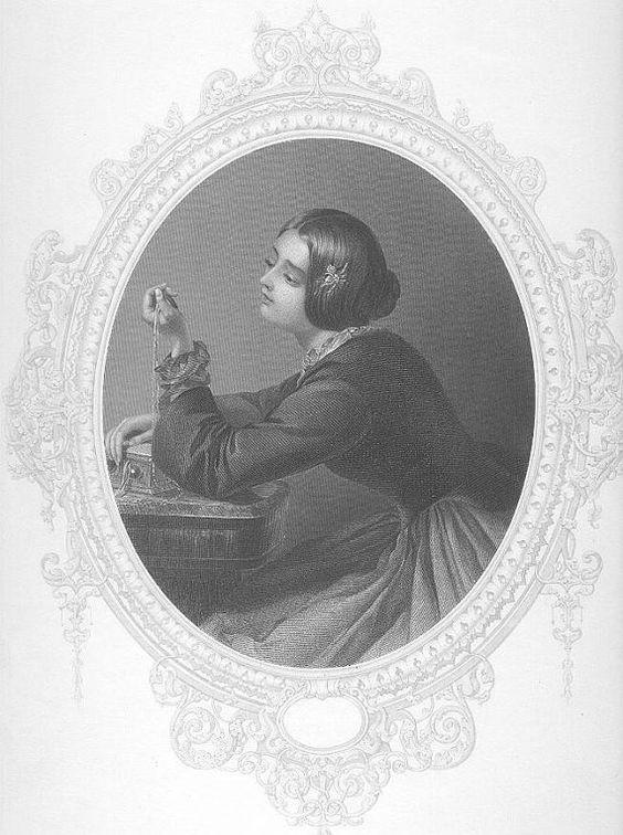 Día sueño del siglo XIX hermosa mujer flor peinado joyas gema victoriana mujer Vintage antiguos acero placa grabado Art Print 1800s [inv BeaU 39