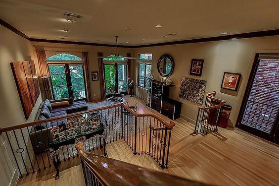 2344 Camden Dr Houston, TX 77021: Photo Open multi level entertaining space on the main 2nd floor including, Living, Dining, Kitchen and Den Brazilian maple hardwoods.
