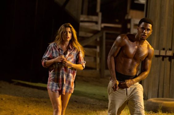 Pin for Later: The Hottest Shirtless Guys in Movies Trey Songz, Texas Chainsaw 3D I know he's in immediate and serious danger, but if Ryan (Trey Songz) could just keep his shirt off, that would be great. Thanks.