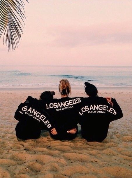 beach, los angeles, and friends
