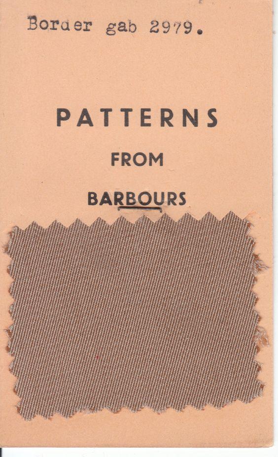 Campioni di tessuto Barbour