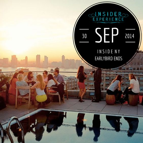 #InsiderExperience Rooftop bars New York City #NewYork #NYC #Manhattan #Travel #Luxury Travel