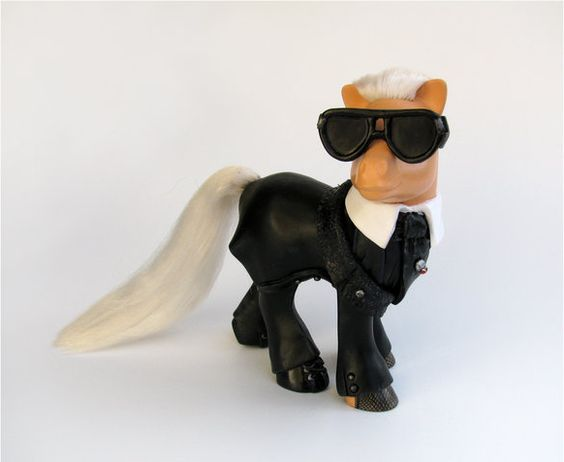 Karl Lagerfeld. As a My Little Pony.
