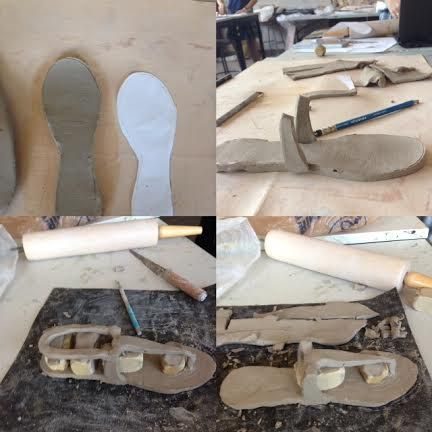 Day two:Started using clay to build shoe in first two pics Day three: Built shoe more, after clay dried