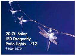 Solar LED Dragonfly Patio Lights From Big Lots $12.00 I Have These On