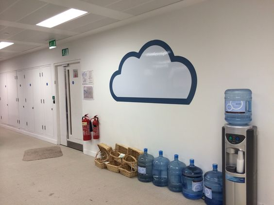 Magnetic whiteboard cloud, this dry wipe cloud is great for any techie office culture. Www.vinylimpression.co.uk