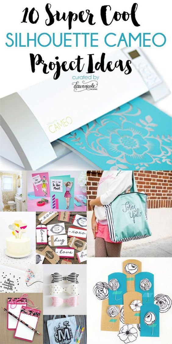 10 Super Cool Silhouette CAMEO Project Ideas. Did you know you can cut wood sheets with your Silhouette?!   See all the projects at bydawnnicole.com