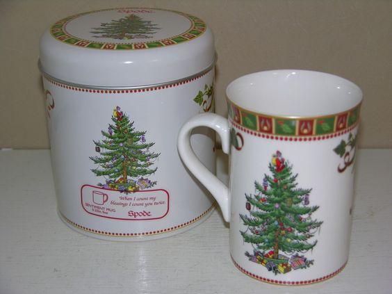 SPODE CHRISTMAS TREE SENTIMENT MUG
