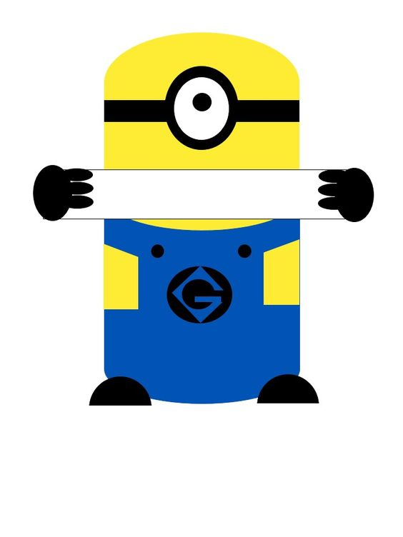 Minion door tag inspired by this page http img for Door name tag template