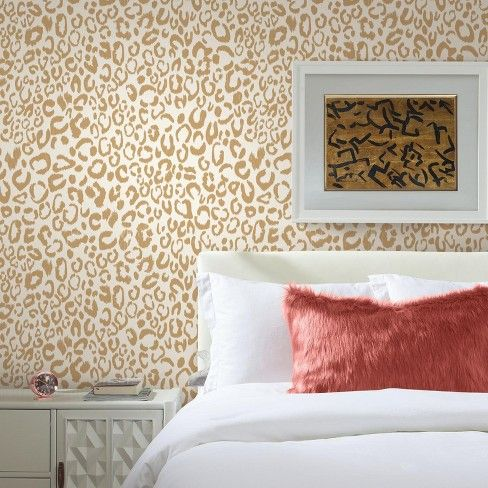 Roommates Leopard Peel Stick Wallpaper Gold Peel And Stick Wallpaper Trending Decor Home Decor Trends