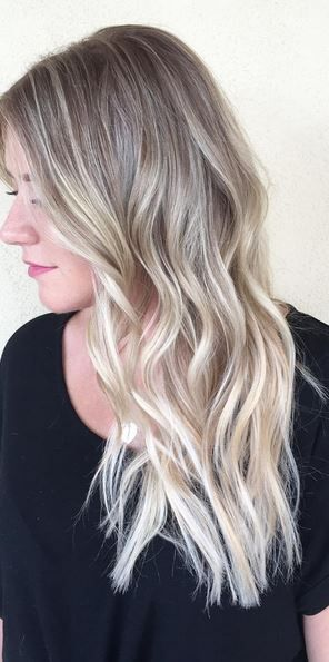 hair color trends , blonde highlights via balayage