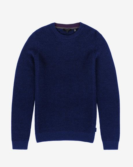 Rib panelled jumper - Blue | Exclusive AW15 Preview Collection | Ted Baker UK