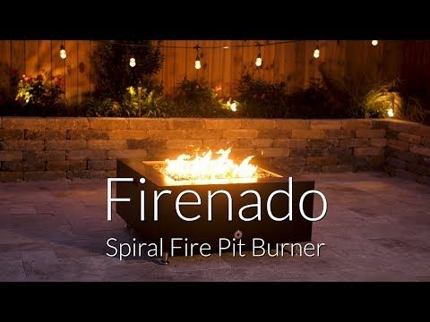 Alpine Flame 36 Inch Drop In Square Stainless Fire Pit Burner Pan With Firenado 30 Inch Natural Gas Spiral Ring Burner Bbqguys In 2020 Fire Pit Natural Gas Fire Pit Outdoor Fire Pit