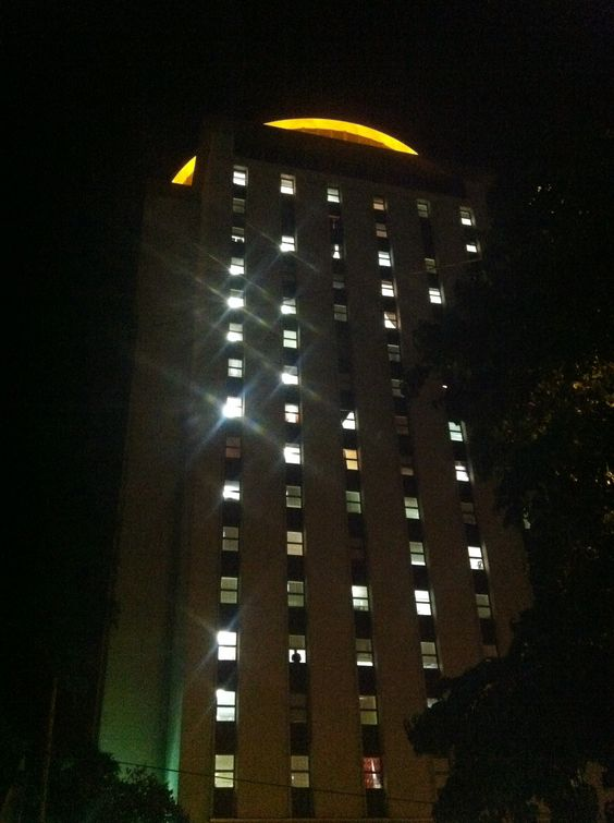 Day 8 of the #UofSCPhotoADay challenege: Up! Look up at Capstone House, home to the Capstone Scholars and Top of Carolina revolving restaurant. This residence hall is a landmark to #UofSC's campus. See what others saw when they looked up: uofscphotoaday.vscampaign.com