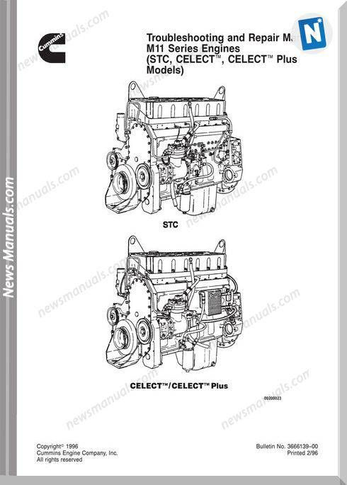 Cummins Diessel Engine M11 Repair Manual Repair Manuals Cummins Repair