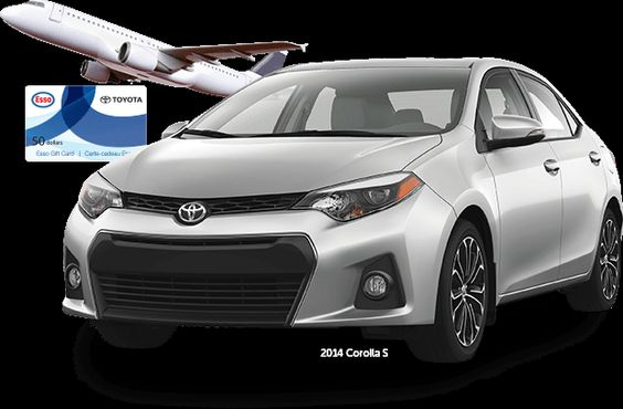 Win prizes with TOYOTA SERVICE. You could instantly win: 1 of 5 $5,000 Trip Vouchers, 1 of $1,000 $50 Esso* Gift Cards and be entered for your chance to win a 2014 Corolla S
