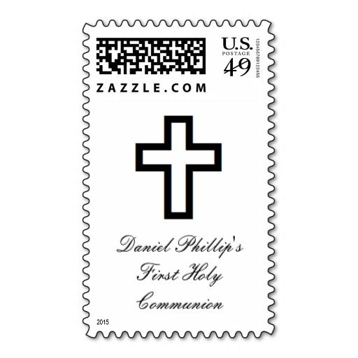 """""""Open Cross"""" Postage Stamps are perfect for Christenings, First Communions, Confirmations, etc. Different sizes available to choose from. Other matching items available."""