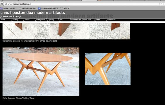 http://www.modernartifacts.net/  Parisi Inspired Dining/Writing Table