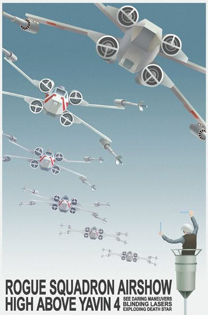 Rogue Squadron Airshow High Above Yavin 4. See daring maneuvers, blinding lasers, & exploding death stars.