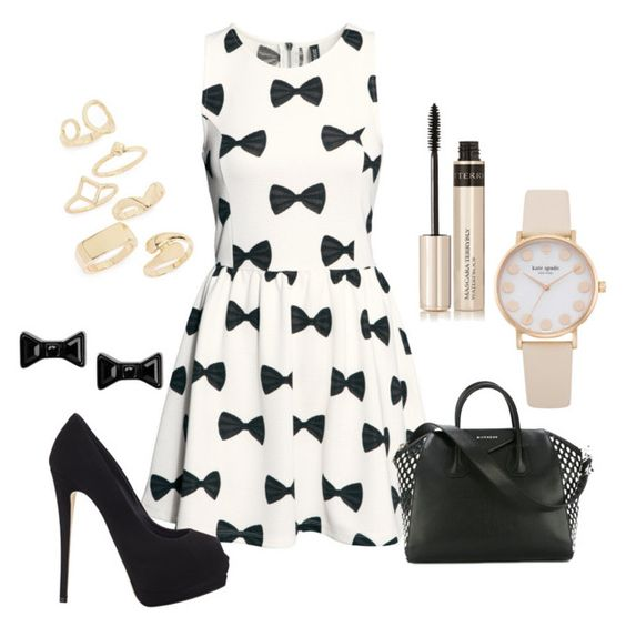 """""""Untitled #87"""" by gintarytee ❤ liked on Polyvore featuring H&M, Giuseppe Zanotti, By Terry, Givenchy, Topshop and Marc by Marc Jacobs"""