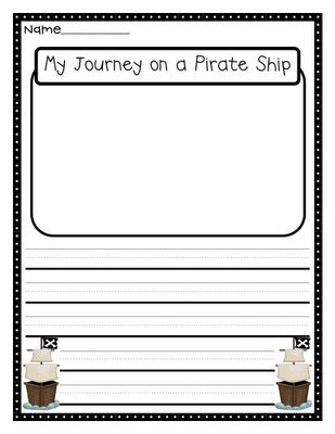 Pirate writing paper
