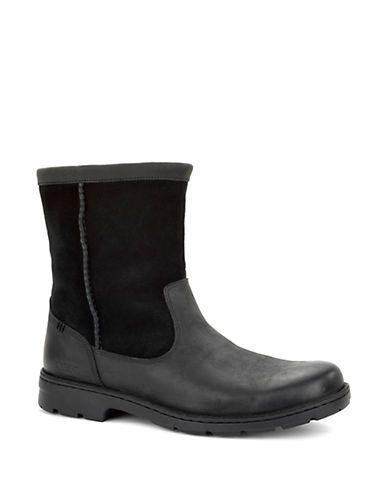 Ugg Foerster Leather Boots Men's Black 12
