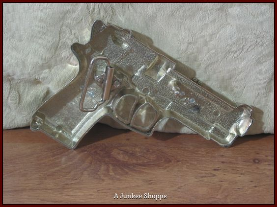 45 CALIBER Pistol Belt Buckle Sparkle Iced With Rhinestones & Dollar Signs Used  Junk 654  http://ajunkeeshoppe.blogspot.com/
