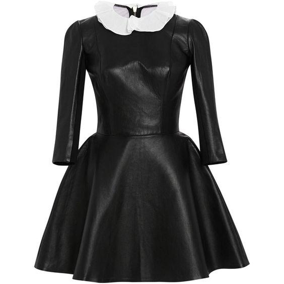 Long Sleeve Leather Dress