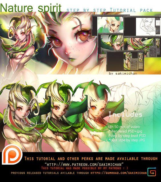 Nature Spirit video tutorial pack .promo. by sakimichan