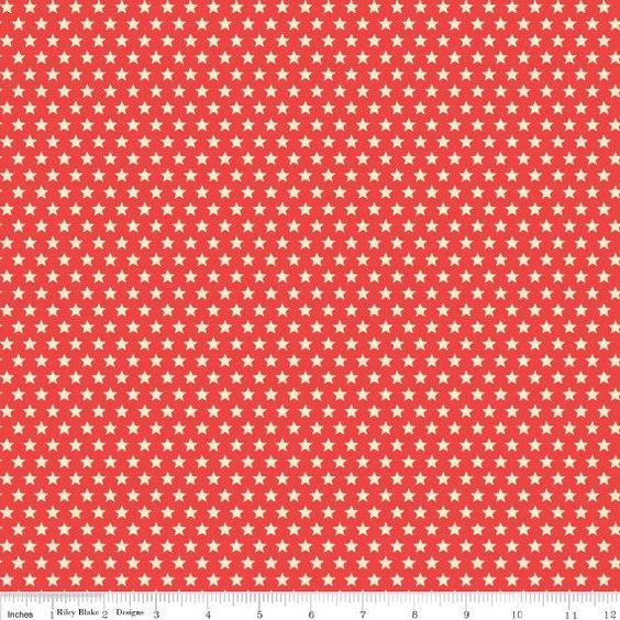 Rakete Alter Sternen rot  1/2Hof von uberstitch auf Etsy, $4.75