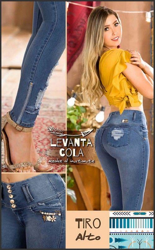 Jeans Levantacola Original Colombiano 3020 Jeans De Moda Pantalones De Moda Pantalones De Moda Mujer