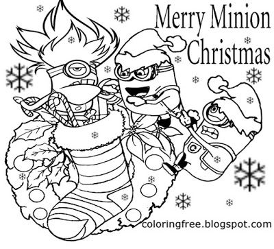 December Xmas Decoration Cool Merry Minions Christmas Coloring Pages For Youngsters To Print Co Christmas Coloring Pages Minion Coloring Pages Minion Christmas