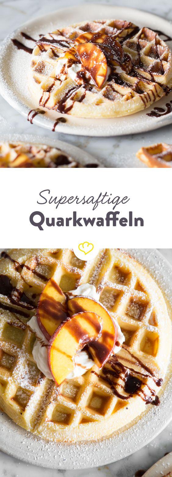Die saftigsten Waffeln machst du aus Quark und Mineralwasser