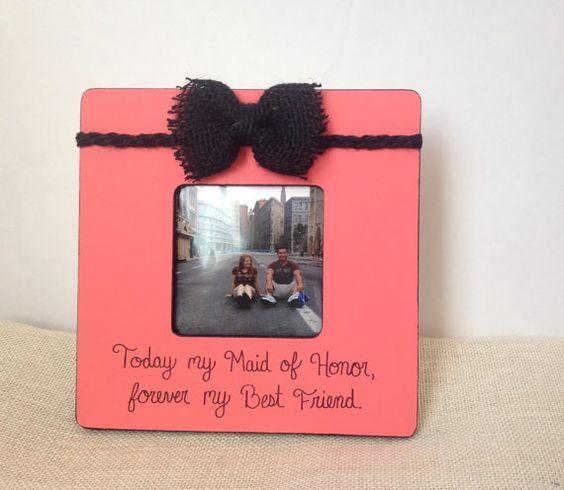 Maid of Honor frame Bridesmaid gift frame by EmbellishedForLove