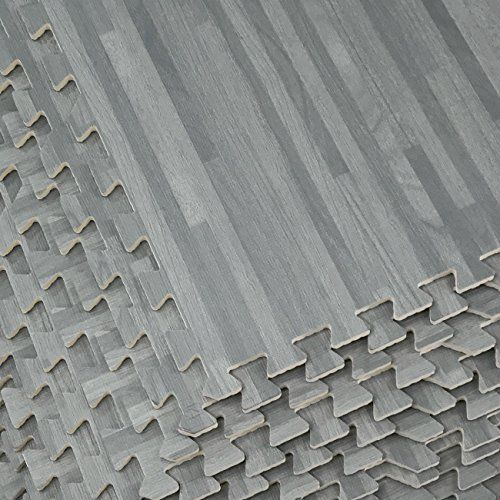 Amazon Com Sorbus Wood Grain Floor Mats Foam Interlocking Mats Tile 3 8 Inch Thick Flooring Wood Mat Tiles B Interlocking Mats Wood Floors Rubber Floor Tiles