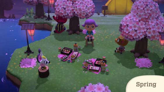 Animal Crossing New Horizons Spring In 2020 Animal Crossing Animal Crossing Game Animal Crossing Qr