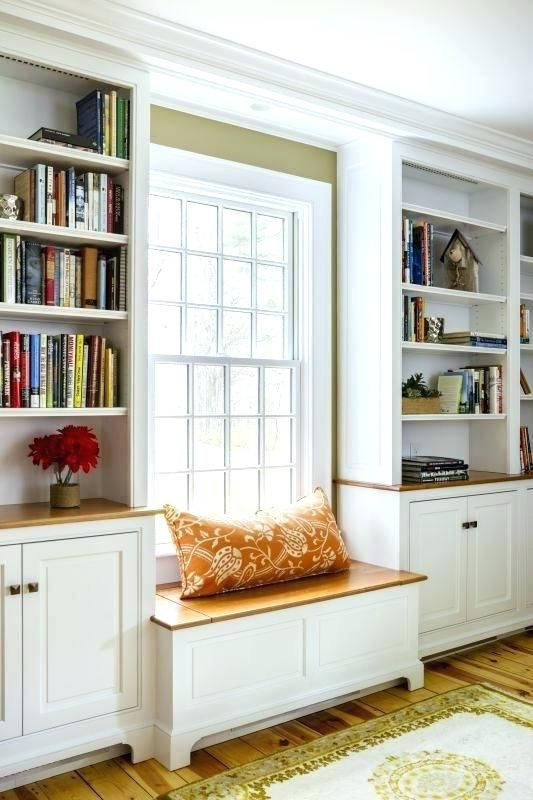 Builtin Window Seats Built In View Larger Images Of Bench Seat Under Built In Shelves Living Room Living Room Built Ins Living Room Bench