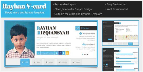 Rayhan - HTML Resume Template CV Vcard  Professional Resume HTML - bootstrap resume template