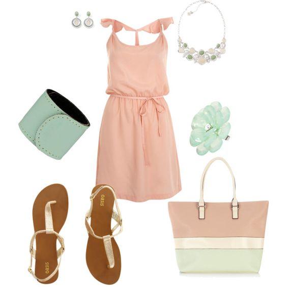Peach & Mint, created by amyjoyful1 on Polyvore