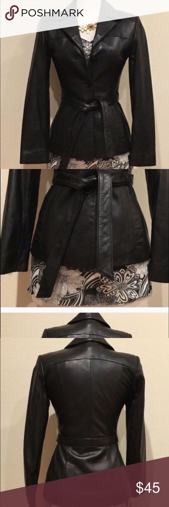 Leather jacket xs - Bebe Black Leather Jacket Xs Bebe Black Leather Xs Bebe Jackets Coats Utility Jackets