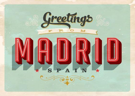 Madrid - Vintage Style | Urlaubsgrüße | Echte Postkarten online versenden…
