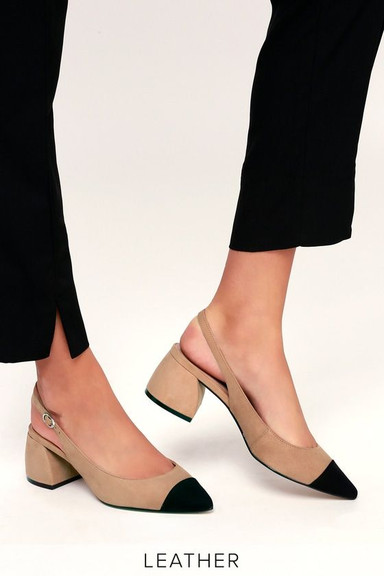 Agent Tan Multi Leather Slingback Pumps | Style. in 2019