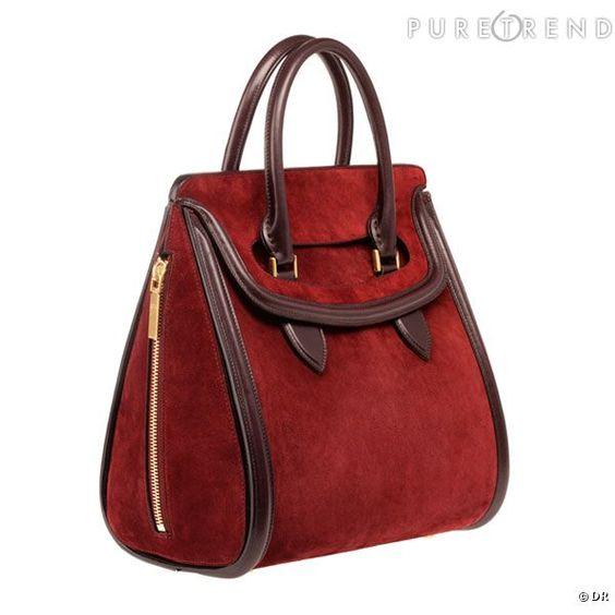 Heroine, le nouveau modèle Alexander McQueen Automne-Hiver 2012/2013, version rouge velours et cuir