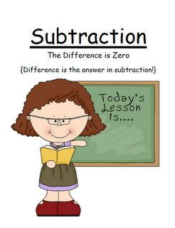 """Fern Smith's FREE Math Subtraction Center Game ~ """"The Difference is Zero!"""" Concept!  Downloaded Over 6,800 Times! At Classroom Freebies Too!"""