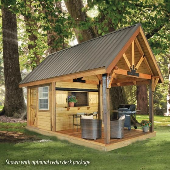 10x8 cabana with 10 39 covered porch for possible tiny house for Garden cabana designs