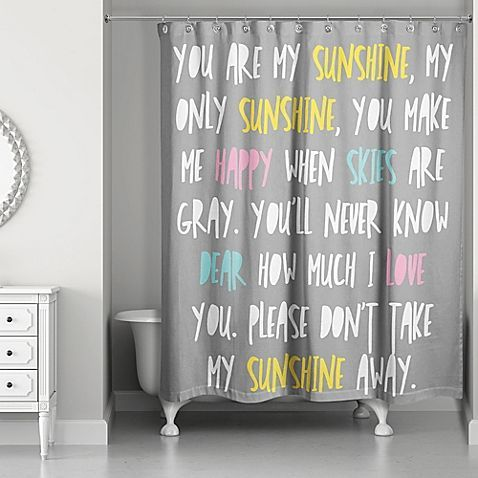 You Are My Sunshine Shower Curtain Bathroom Decor Bathroom
